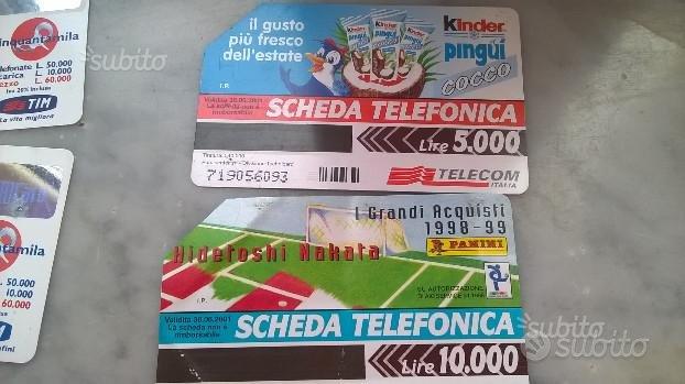 Schede Telefoniche e Ricariche Tim Telecom Anni 90