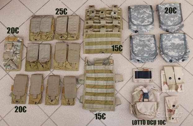 LOTTO TASCHE MILITARI eagle industries