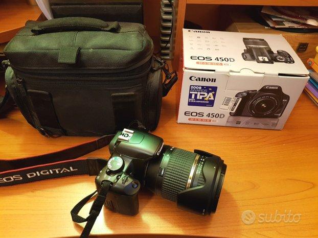 Reflex digitale Canon 450D 18-55 con Tamron 18-270