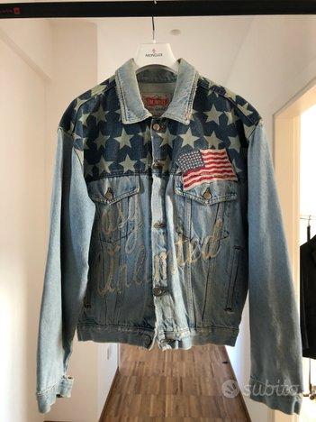 USA Giubbotto Giacca Jeans Denim VINTAGE Anni 90