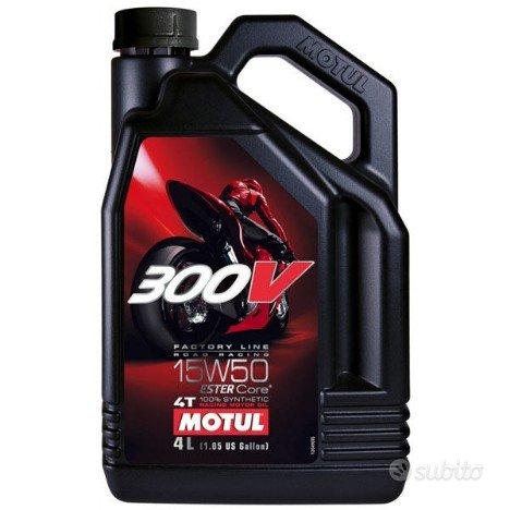 Tanica 4 litri motul 300V 100% sintetico