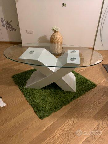 Tavolino Moderno Da Caffe Ovale Piano In Vetro Arredamento E Casalinghi In Vendita A Bari
