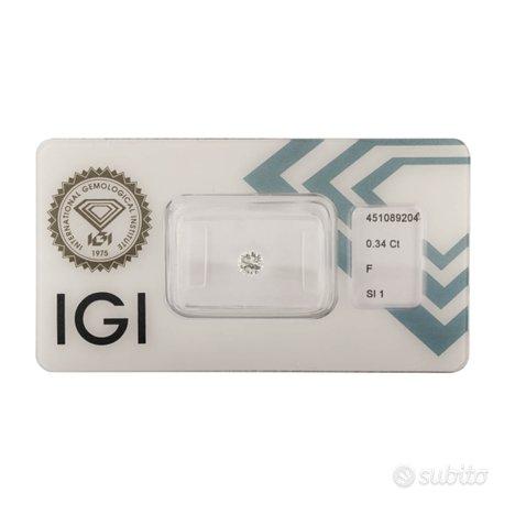 Diamante certificato IGI 0,34 ct
