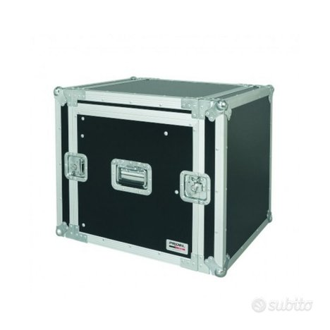 Proel Flight case 10 unità rack con portamixet