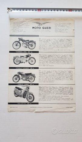 Moto Guzzi 1954 depliant originale Produzione Moto