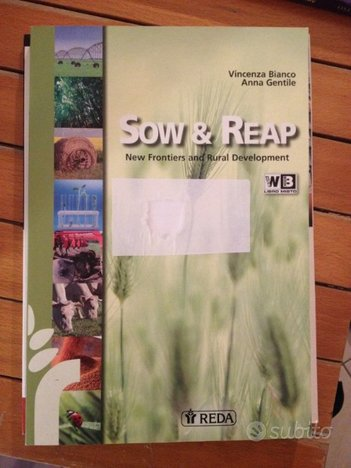 Libro inglese tecnico agrario Sow & Reap
