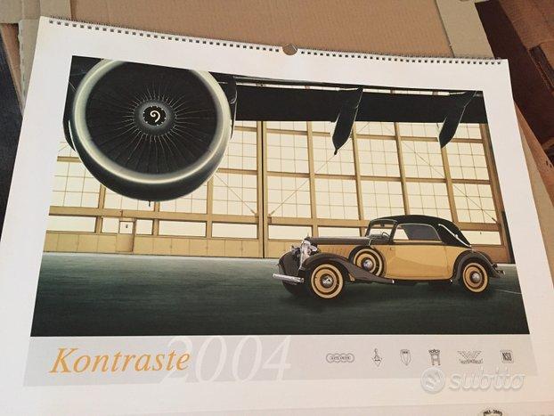 Calendario Audi modelli vintage