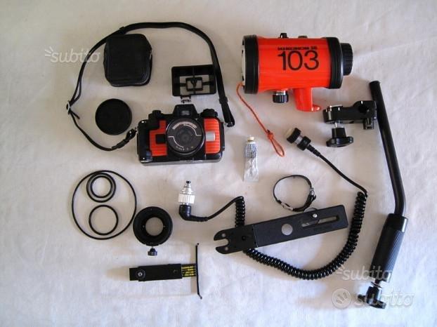 Nikonos V Flash SB103 e accessori x fotografia sub