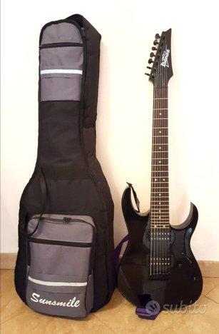 Chitarra elettrica 7 corde nera Ibanez Nuova