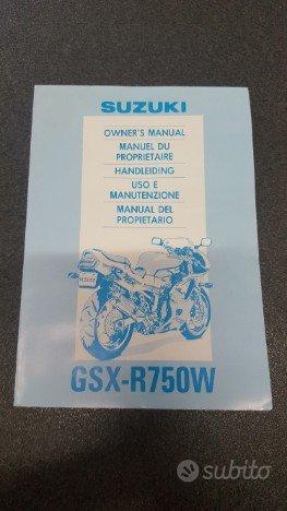 Uso e manutenzione manuale suzuki gsx-r750w