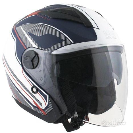 Casco jet moto scooter cgm 130g con doppia visiera