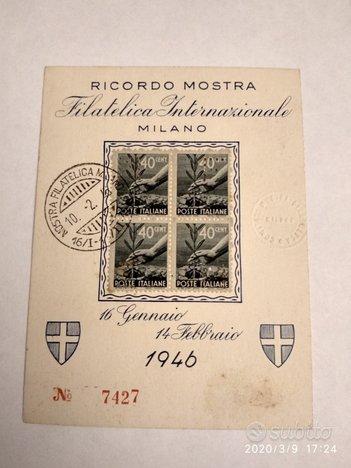 Mostra filatelica internazionale di Milano 1946