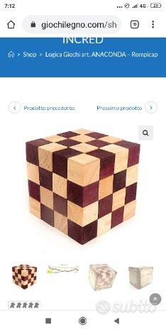 Rompicapo gioco in legno