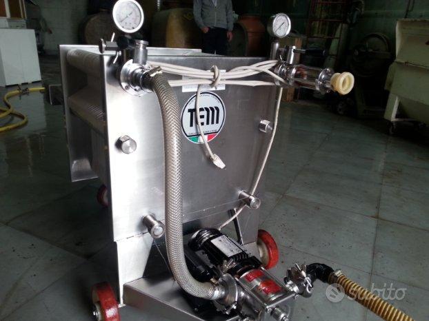 Cisterne, filtro e pressa da vino e olio