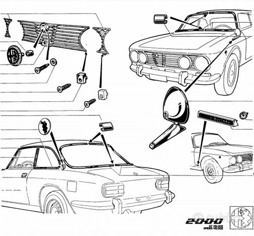 Ricambi nuovi per vetture storiche Alfa Romeo