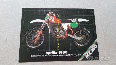 Aprilia MX 250 CROSS 1980 depliant originale moto