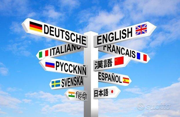 Lezioni di Inglese, Cinese, Tedesco e Spagnolo