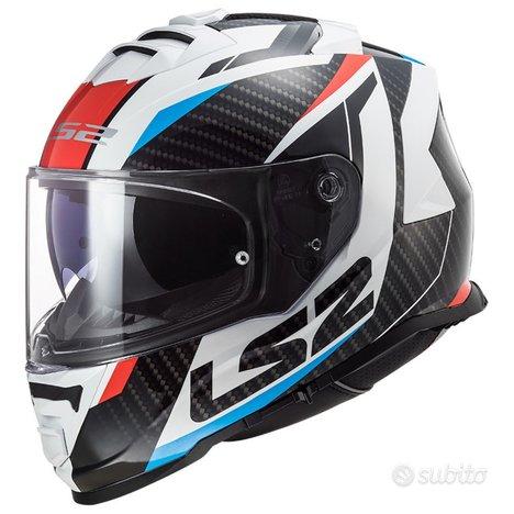 Casco Integrale LS2 STORM RACER Rosso Blu Carbon