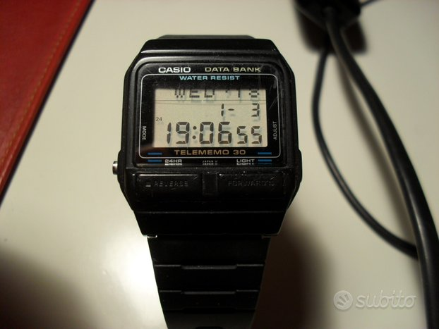 Orologio CASIO LCD Watch DATA BANK TELEMEMO 30