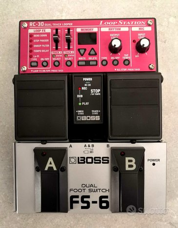 Pedale BOSS RC30+ DUAL FOOT SWITCH FS-6