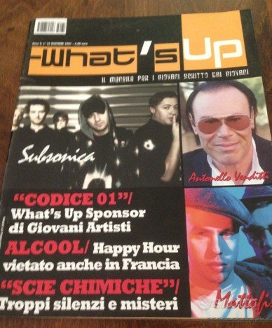 Rivista What's up venditti subsonica 2007