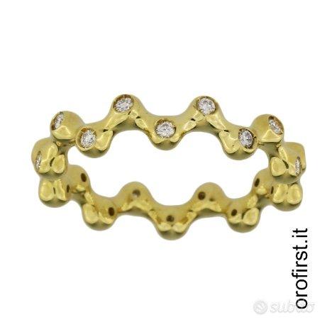 Anello oro giallo e diamanti 0,30 ct