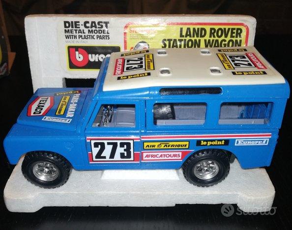Land rover station wagon - burago 1/24 - anni '80