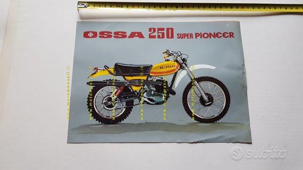 OSSA 250 Super Pioneer 1976 enduro depliant moto