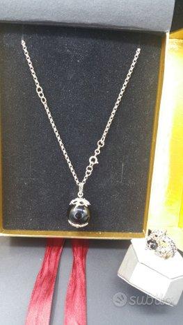 Collana e anello in argento