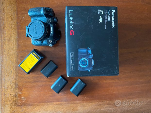 Panasonic GH4 + scatola + 3 batterie + caricatore