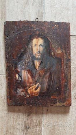 Icona fatta a mano su legno