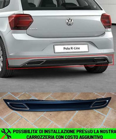 Vw polo aw1 2017+ diffusore posteriore abs rline