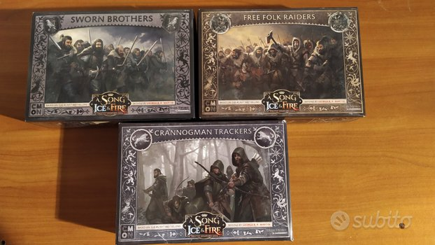 A Song of Ice and fire CMON miniature set di 3 sca