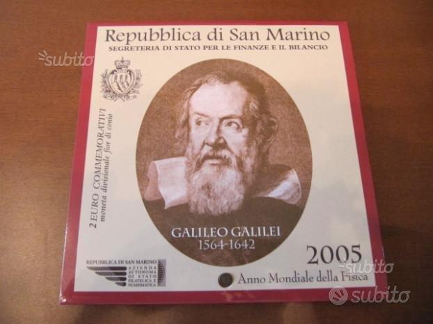 2 euro commemorativi San Marino 2005 Galilei