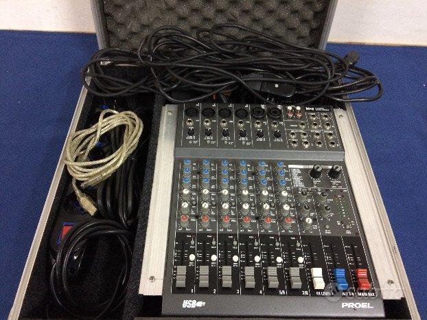 PROEL M-8 USB mixer (no fbt montarbo peavey jbl)