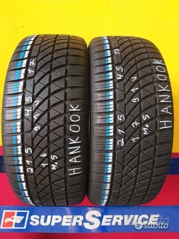 2 gomme 215 45 17 4 stagione al 95% hankook