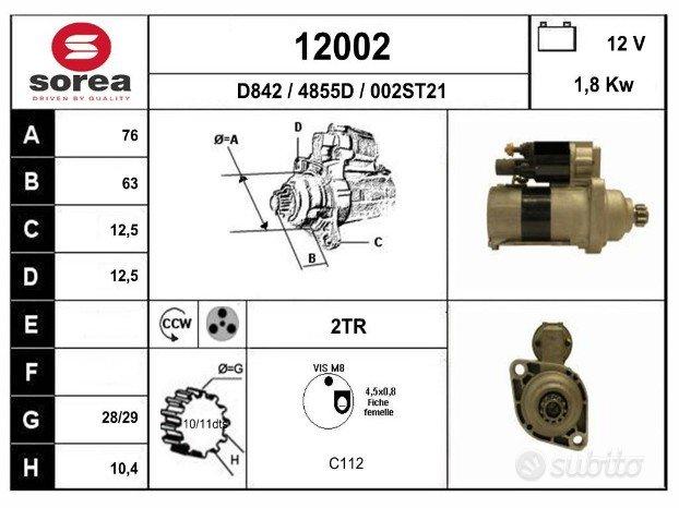 Motorino avviamento 1.9, 2.0 tdi