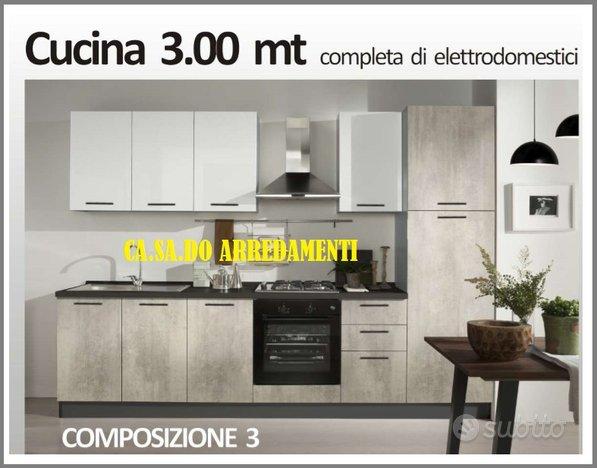 Cucina nox 300 cm NAPOLI CENTRO