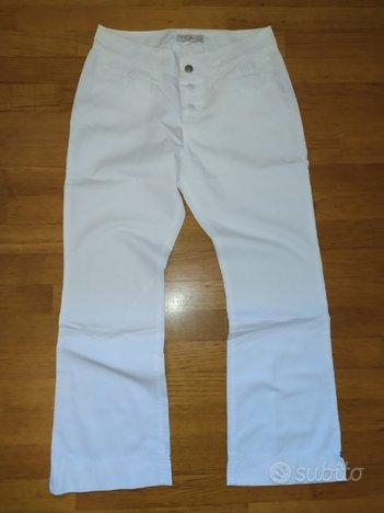 Pantaloni bianchi tg.42 S Phard jeans