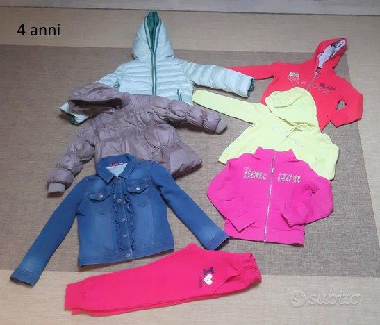 Lotto vestiti usati bambina 4-6 anni