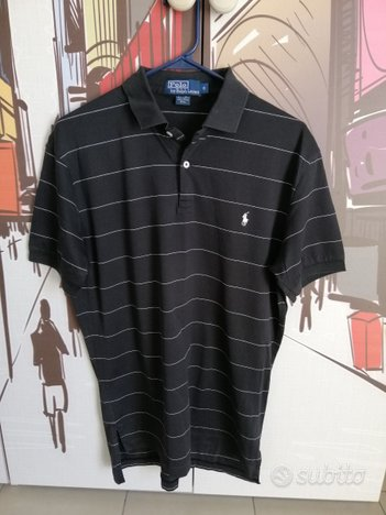 Maglia Polo Ralph Lauren nera vintage