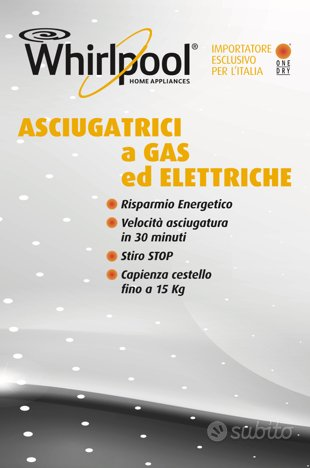 asciugatrici a gas metano o elettriche