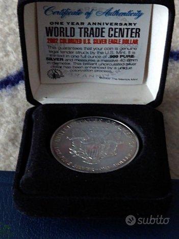 USA medaglia World Trade Center 2002 ag.999