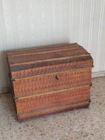 Baule forziere cassa legno 1950