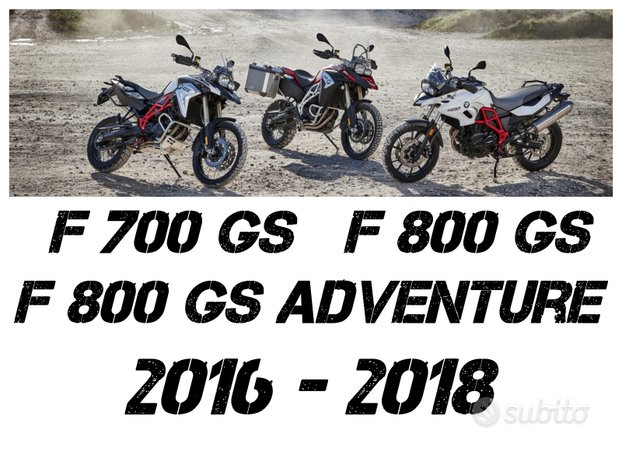 Manuale Officina BMW F 700 - 800 GS 2016 - 2018