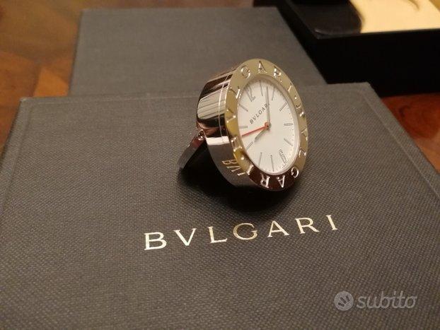 Nuovo:Orologio da tavolo Bvlgari travel/desk clock