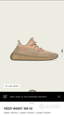Adidas Yeezy Boost 350 V2 Sand Taupe - 43 1/3