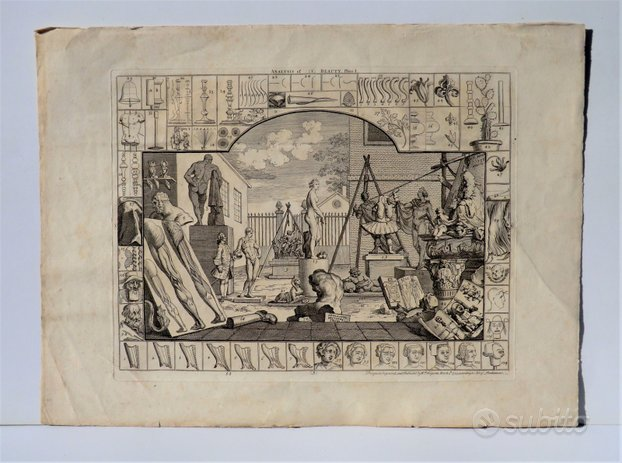 William Hogarth - Analysis of beauty - Plate I II