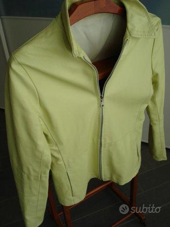 Giubbino giacca donna vera pelle taglia 42