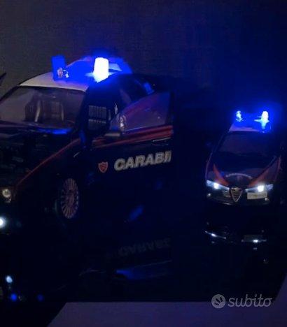 Carabinieri modellini 1/24 1/43 con luci